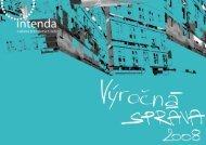 Výročná správa 2008 - Intenda