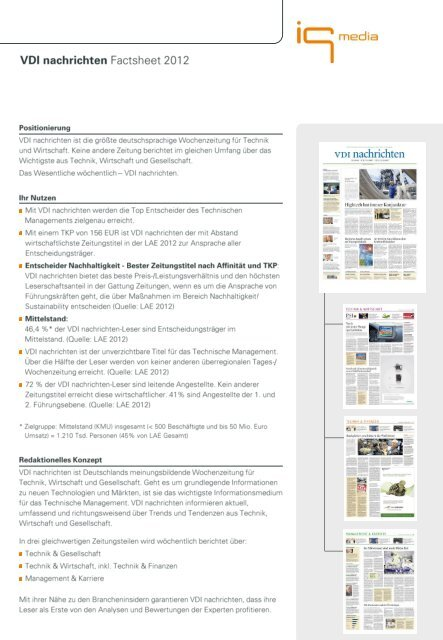 Factsheet 2012 - IQ media marketing