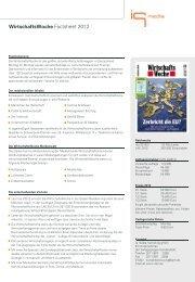 WirtschaftsWoche Factsheet - IQ media marketing