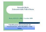 Serenella Besio i i d ll ll d A Università della Valle d'Aosta