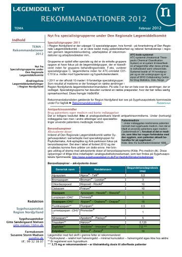 Tema Rekommandationer - Sygehusapoteket - Region Nordjylland