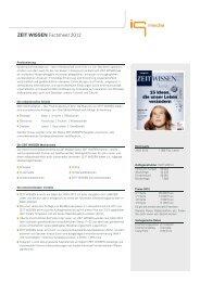 ZEIT WISSEN Factsheet 2012 - IQ media marketing
