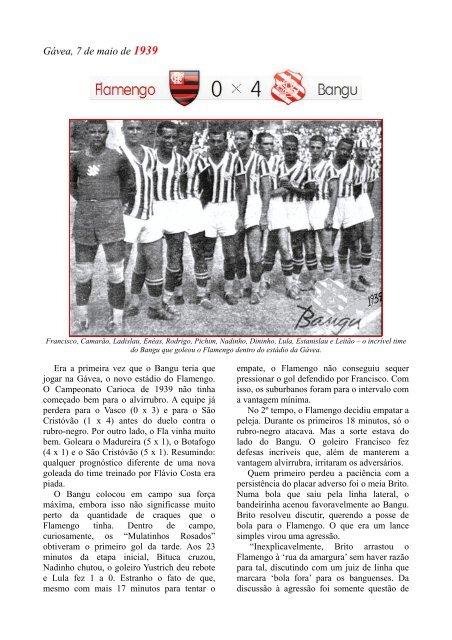 1939 - Flamengo 0 x 4 Bangu (Carlos Molinari) - Bangu.net