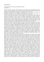 Monologo per X - Il Liceo Scientifico e Linguistico di Ceccano