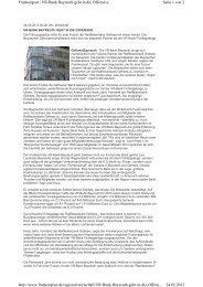 24. Mai - VR-Bank Bayreuth geht in die Offensive