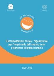 Raccomandazioni clinico - Agenzia di Sanità Pubblica della ...