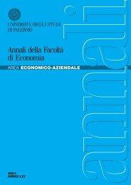 AREA ECONOMICO-AZIENDALE Anno 2007 LXI - Economia ...