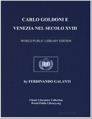 carlo goldoni e venezia nel secolo xviii - World eBook Library
