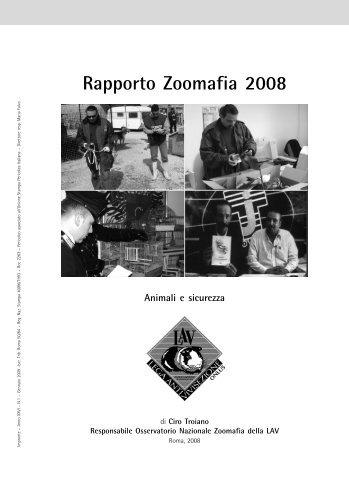 Rapporto Zoomafia 2008 - Lav