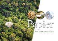 Broschüre: PAPIER – Wald und Klima schützen - Der Blaue Engel