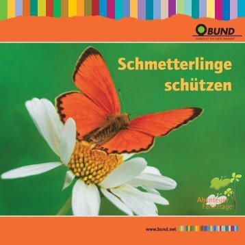 Broschüre Schmetterlinge schützen - Bund