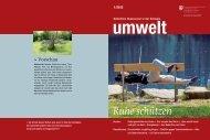 Magazin «umwelt» 1/2013 - Ruhe schützen - BAFU - admin.ch