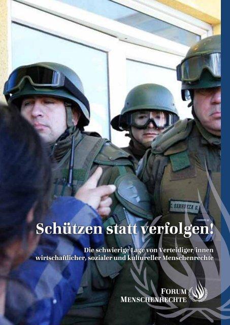 Schützen statt verfolgen! - Forum Menschenrechte