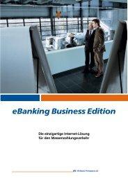 Handbuch eBanking Business Edition - VR-Bank Pirmasens eG