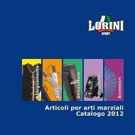 Catalogo 2012 Articoli per arti marziali