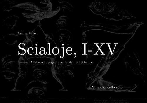 Per violoncello solo - Andrea Valle