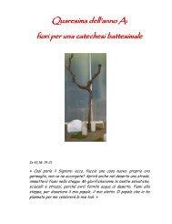 fiori per una catechesi battesimale - Arcidiocesi di Torino