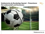 Süddeutsche.de Bundesliga Spezial ... - IQ media marketing