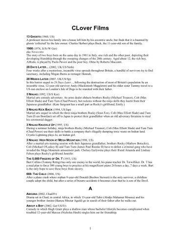 1 free Magazines from CLOVERFILMS X10 MX