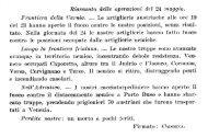 Riassunto delle operazioni del 24 maggio. Ffooztiera della (Parma ...