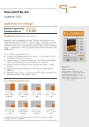 Handelsblatt-Spezial Factsheet 2012 - IQ media marketing