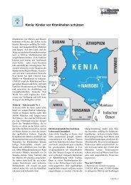 Kenia: Kinder vor Krankheiten schützen - Eine Welt in der Schule