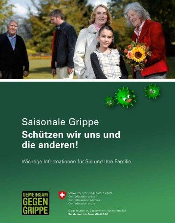Saisonale Grippe - Schützen wir uns und die anderen! Wichtige ...