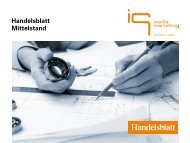 Handelsblatt Mittelstand - IQ media marketing