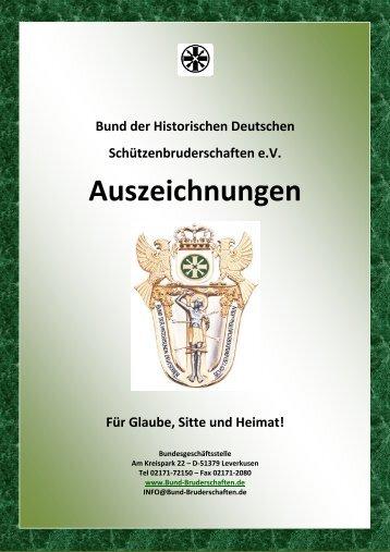 Auszeichnungs-Katalog - Bund der Historischen Deutschen ...