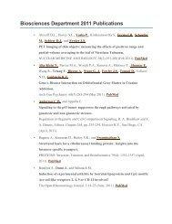 Biosciences Department 2011 Publications - Brookhaven National ...