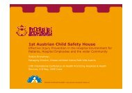 First Austrian child safety house - HPH-Conference