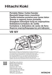 VB 16Y - Hitachi Koki Co., Ltd.