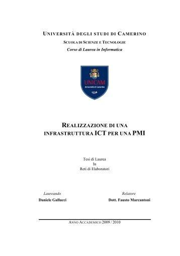 realizzazione di una infrastruttura ict per una pmi - Il Corso di laurea ...