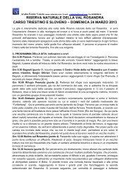 RISERVA NATURALE DELLA VAL ROSANDRA ... - Cral Araba Fenice