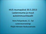 Heini Pohjankoski, Lasten reuma ja muut autoimmuunitaudit