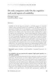 On the cognitive and social aspects of scalability