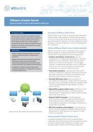 Gestione semplice e unificata dell'ambiente virtualizzato - VMware