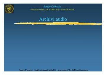 (7) Archivi audio