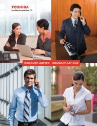 Unified Communications Brochure - Toshiba