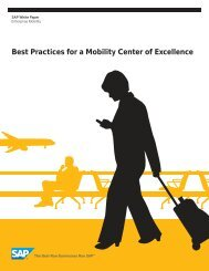 Best Practices for a Mobility Center of Excellence - Sybase