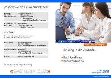 zu eBanking Privat Edition (pdf) - VR-Bank Memmingen eG on