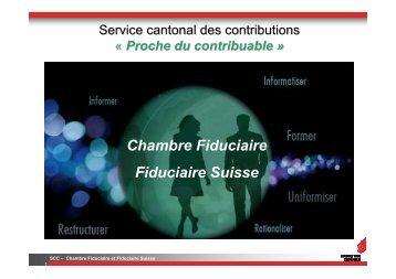 Chambre Fiduciaire Fiduciaire Suisse - Etat du Valais