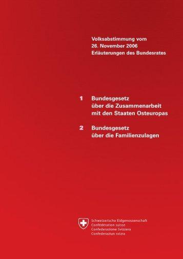Erläuterungen des Bundesrates - Erweiterungsbeitrag - admin.ch