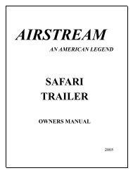 SAFARI TRAILER - Airstream