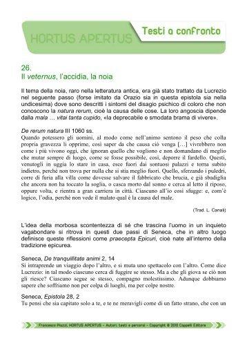 26. Il veternus, l'accidia, la noia - Edu.lascuola.it