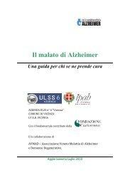 GUIDA - Il malato di Alzheimer - ULSS 6 Vicenza