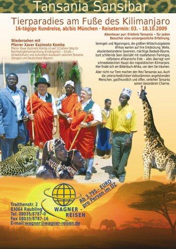 Tansania Sansibar - Wagner Reisen