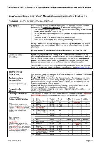 EN ISO 17664:2004 - Wagner Sterilsysteme