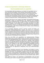 Kinder und Jugendliche in schwierigen Situationen - VSE Hannover