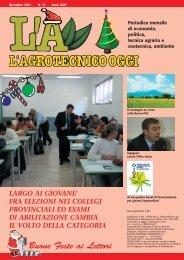 L'Agrotecnico Oggi dicembre 07 - Collegio Nazionale degli Agrotecnici